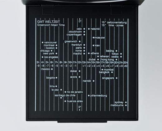 ブラウン トラベルクロック BNC005 ワールドタイムチャート