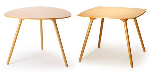マッシュルームベーステーブル 三角形、四角形