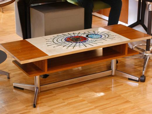 モザイクタイルトップテーブル
